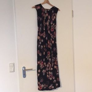 Aritzia Wilfred Silk Floral Maxi Dress